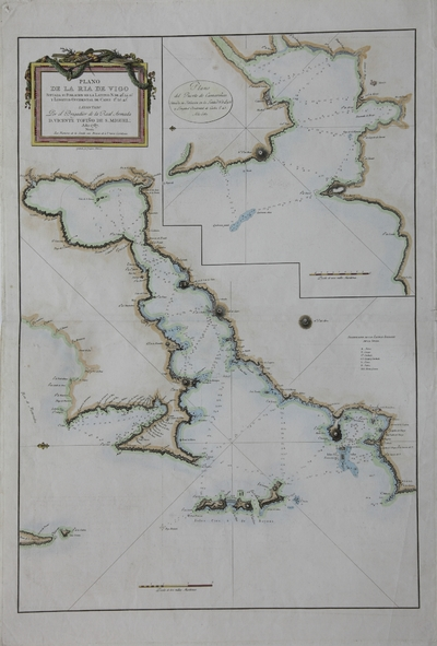 Plano de la Ria de Vigo [Material cartográfico]; Plano del Puerto de Camariñas