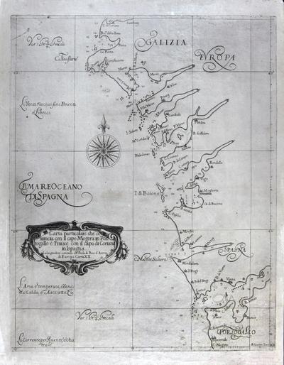 Carta particolare che comincia con il capo Mogera in Portogallo è Finisce con il capo di Coriano in Ispagna [Material cartográfico]
