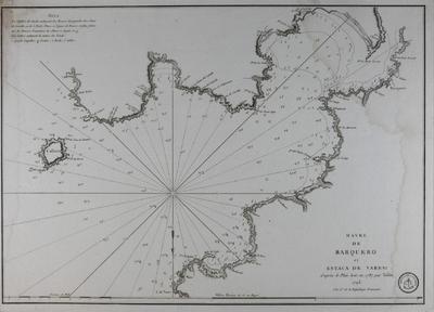 Havre de Barquero et Estaca de Vares [Material cartográfico]: d´après le Plan levé en 1787