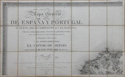 Mapa General de España y Portugal o Nuevo Atlas compuesto en 63 pliegos [Material cartográfico]
