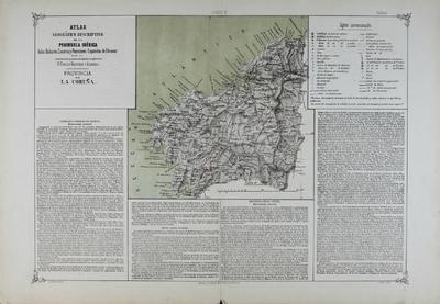 Provincia de La Coruña : Atlas geográfico descriptivo de la Peninsula Ibérica ... [Material cartográfico]