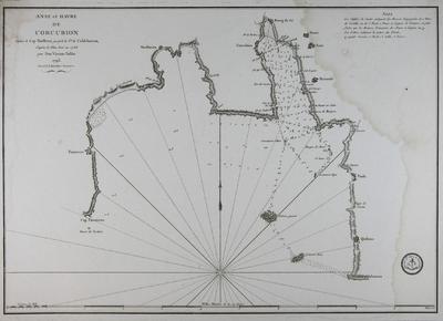 Anse et Havre de Corcubion depuis le Cap Finisterre jusq´à la Pte. de Caldebarcos, d´après le Plan levé en 1786 [Material cartográfico]