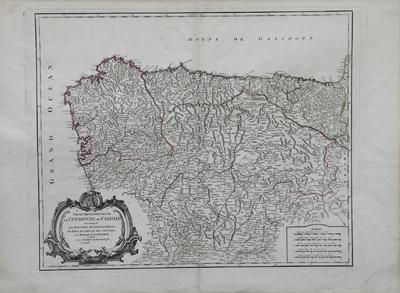 Partie Septentrionale de la Couronne de Castille : où se trouvent les Royaumes de Castille Vieille, de Leon, de Gallice, des Asturies, la Biscaye et la Navarre, en Partie [Material cartográfico]