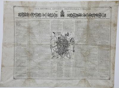 Guia histórica, artística, arqueológica y militar de la antigua capital de Galicia, Santiago de Compostela [Material cartográfico]