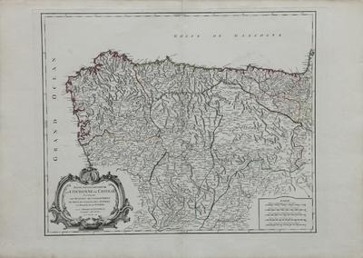 Partie Septentrionale de la Couronne de Castille [Material cartográfico]: où se trouvent les Royaumes de Castille Vieille, de Leon, de Gallice, des Asturies, la Biscaye et la Navarre