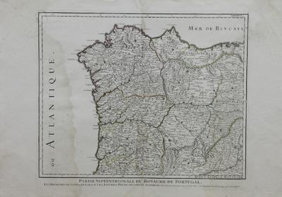 Partie Septentrionale du Royaume de Portugal , les Royaumes de Leon et de Gallice, Les Asturies, Partie des deux Castilles, etc. [material cartográfico] ]