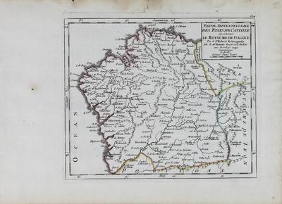 Partie Septentrionale des Etats de Castille oú se trouve le Royaume de Gallice [Material cartográfico]