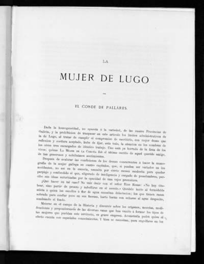 La Mujer de Lugo