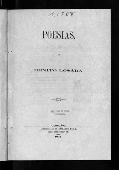Poesías de Benito Losada.