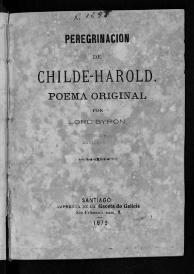 Peregrinación de Childre-Harold : poema original