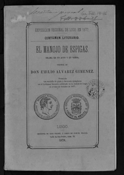 El manojo de Espigas : Drama en un acto y en verso.