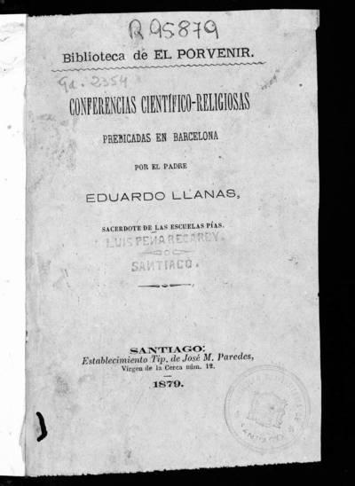 Conferencias científico-religiosas predicadas en Barcelona