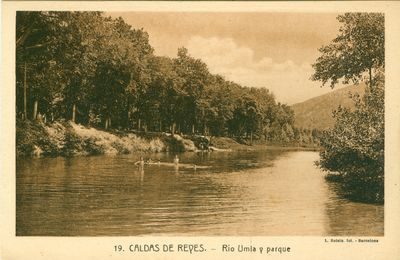 Caldas de Reyes. Río Umia y parque