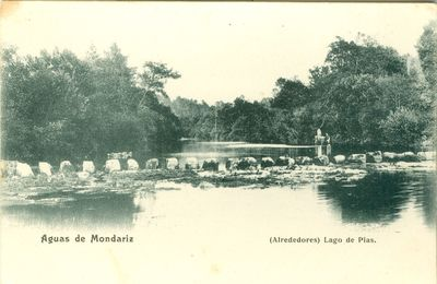 [Mondariz-Balneario]. Aguas de Mondariz. (Alrededores). Lago de Pías