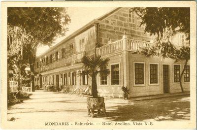 Mondariz-Balneario. Hotel Avelino. Vista N.E.