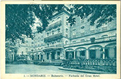 Mondariz-Balneario. Fachada del Gran Hotel