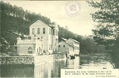 Pontevedra. Río Lérez. Balneario de las Aquas Minerales Lérez