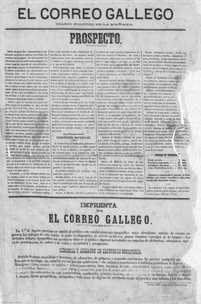 El Correo gallego : diario político de la mañana