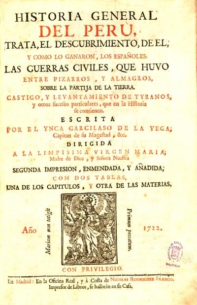 Historia general del Perù trata el descubrimiento de el y como lo ganaron los españoles, las guerras civiles que huvo entre Pizarros y Almagros...