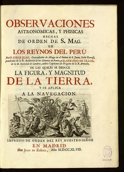 Observaciones astronomicas y phisicas hechas... en los reynos del Perù