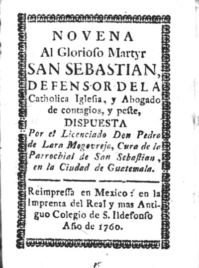Novena al glorioso martyr San Sebastian...