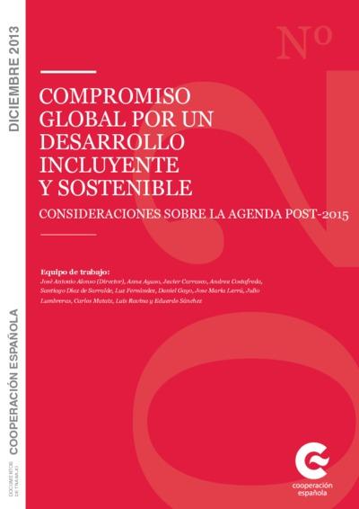 Compromiso global por un desarrollo incluyente y sostenible : consideraciones sobre la agenda post-2015
