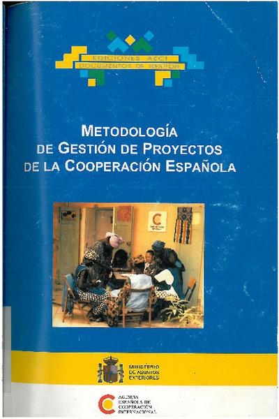 Metodología de gestión de proyectos de la cooperación española