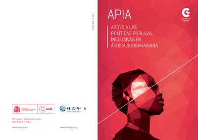 APIA : Apoyo a las políticas públicas inclusivas en África Subsahariana