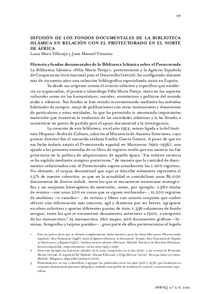 Difusión de los fondos documentales de la Biblioteca Islámica en relación con el Protectorado en el norte de África