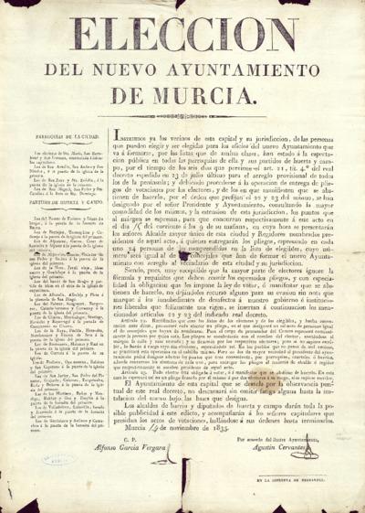 Elección del nuevo ayuntamiento de Murcia [...].