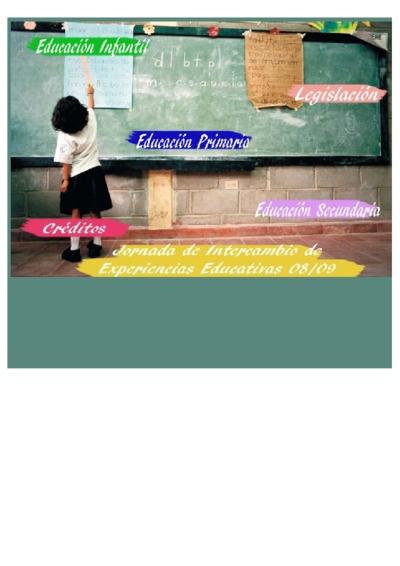 Jornadas de intercambio de experiencias educativas 2008-2009 [Recurso electrónico]