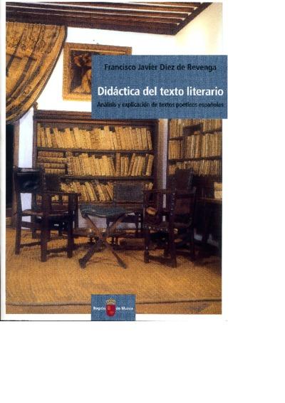 Didáctica del texto literario : análisis y explicación de textos poéticos españoles