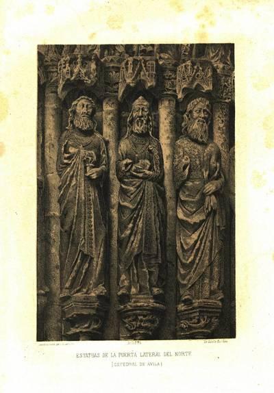 Estatuas de la puerta lateral del norte [Material gráfico]: (Catedral de Ávila)