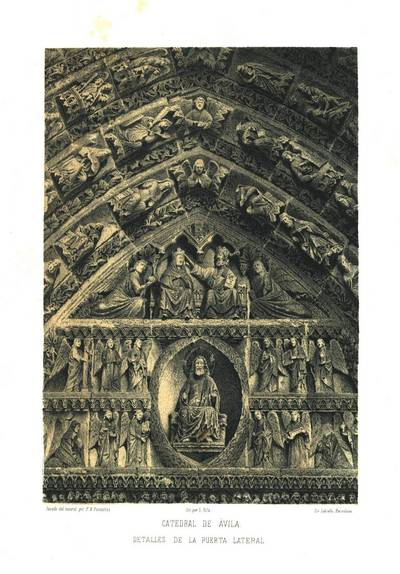 Catedral de Ávila [Material gráfico]: detalles de la puerta lateral