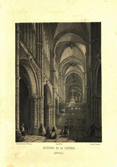 Interior de la Catedral [Material gráfico]: (Ávila)