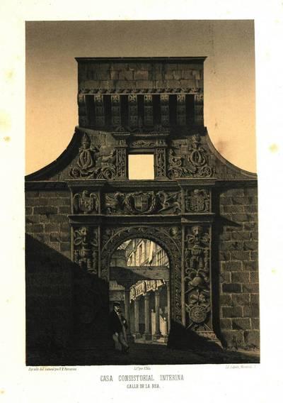 Casa consistorial interina [Material gráfico]: calle de la Rúa