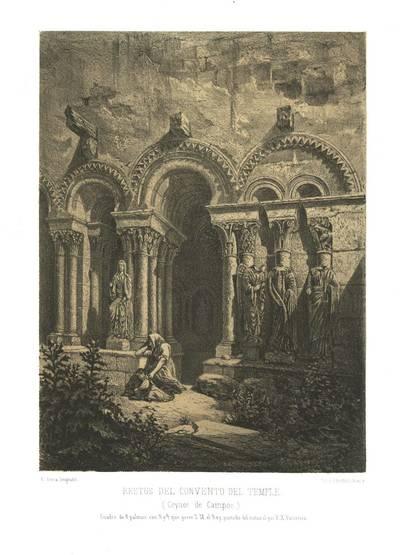 Restos del convento del Temple (Ceynos de Campos) [Material gráfico]: cuadro de 8 palmos con 5 y 1/2 que posee S. M. el Rey