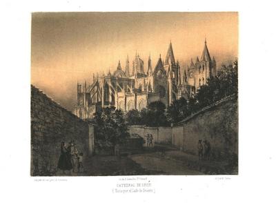 Catedral de León [Material gráfico]:(vista por el lado de oriente)