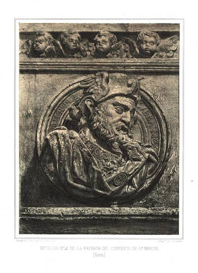 Detalles nº 2 de la fachada del Convento de San Marcos (León) [Material gráfico]