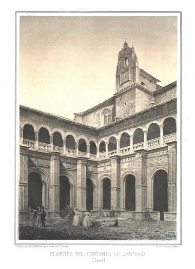 Claustro del Convento de Santiago (León) [Material gráfico]
