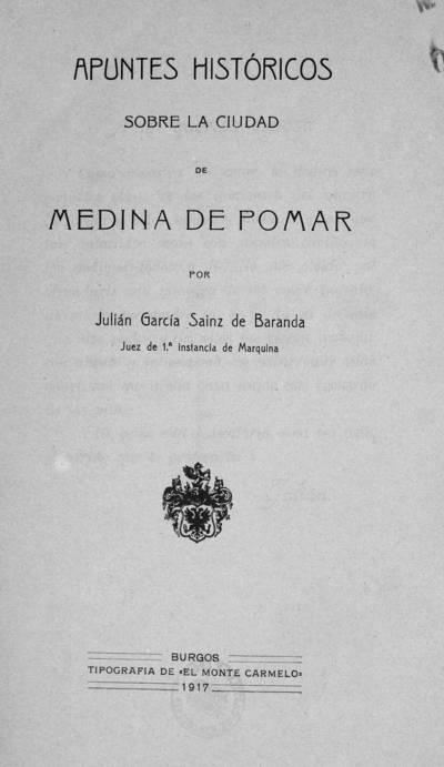 Apuntes históricos sobre la ciudad de Medina de Pomar