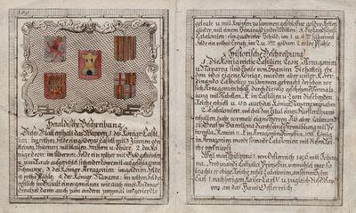 Heraldische Beschreibung [Material gráfico] :] ]Königr. Castilien [...].