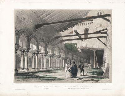 Claustrilla de Las Huelgas, en Burgos [Material gráfico] ]= Cloître appelé La Claustrilla dans l'intérieur du Monastère de Las Huelgas á Burgos