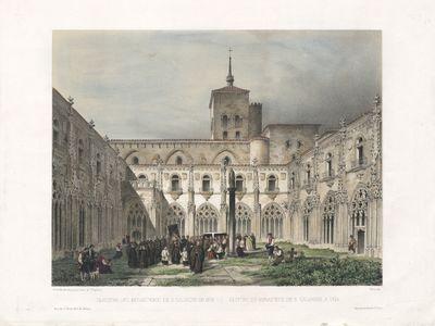 Claustro del Monasterio de S. Salvador en Oña [Material gráfico]= Cloître du Monastère de S. Salvador à Oña
