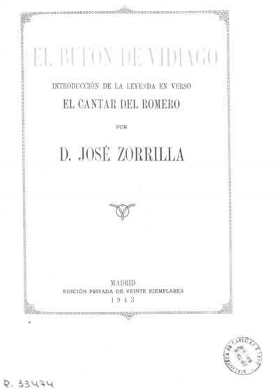 El bufón de Vidiago ; introducción de la leyenda en verso El Cantar del Romero