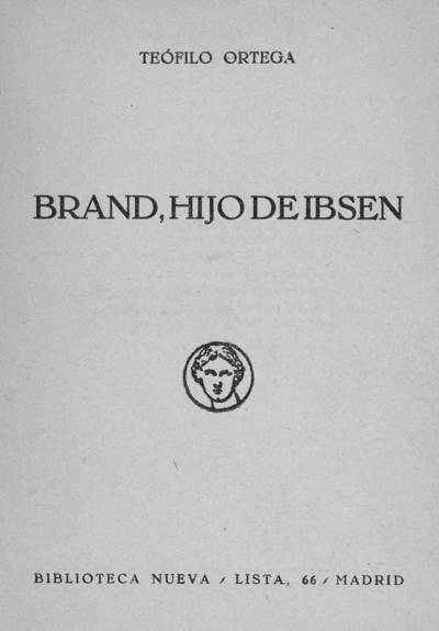 Brand, hijo de Ibsen