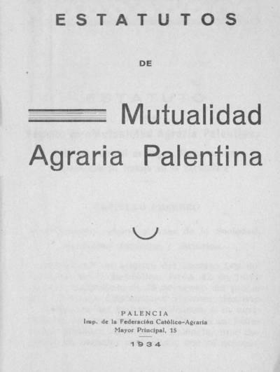 Estatutos de la Mutualidad Agraria Palentina