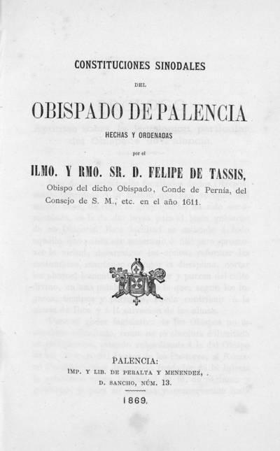 Constituciones sinodales del Obispado de Palencia