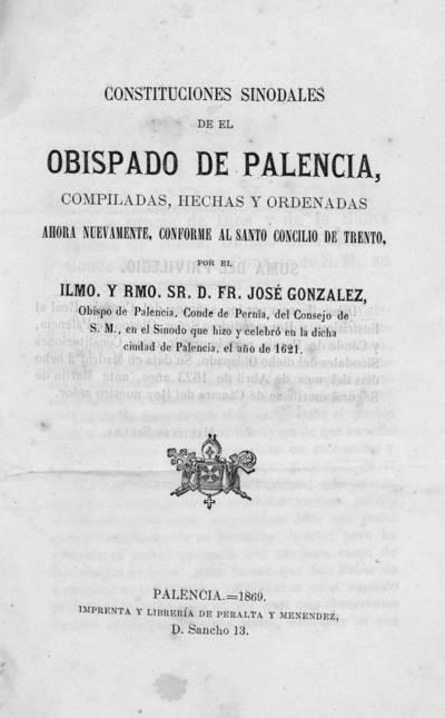 Constituciones sinodales de el Obispado de Palencia