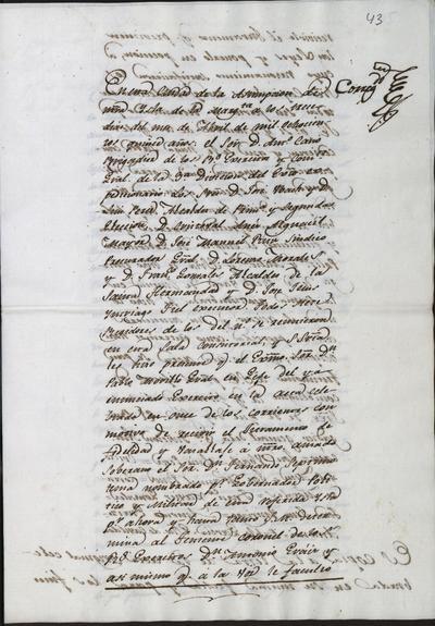 Acta de la toma de posesión del Teniente Coronel don Antonio Herráiz como Gobernador Militar y Político de la ciudad de Asunción de la isla Margarita.